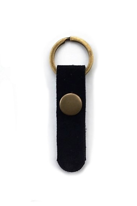 suede leather key fob/black - 10 options
