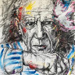 Picasso- Acrylique sur toile- 100 X 100 cm