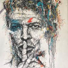 Bowie -100 x 100 cm