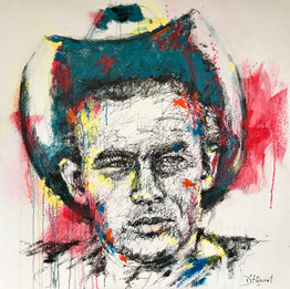 James Dean - 100 x100 cm