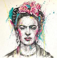 Frida- Acrylique sur toile- 100 X 100 cm