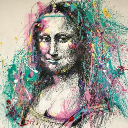 Mona Lisa - 100 x 100 cm