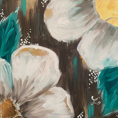 Gold Leaf Floral Class at the Lacy Wilson Art Studio 1/19 @6pm