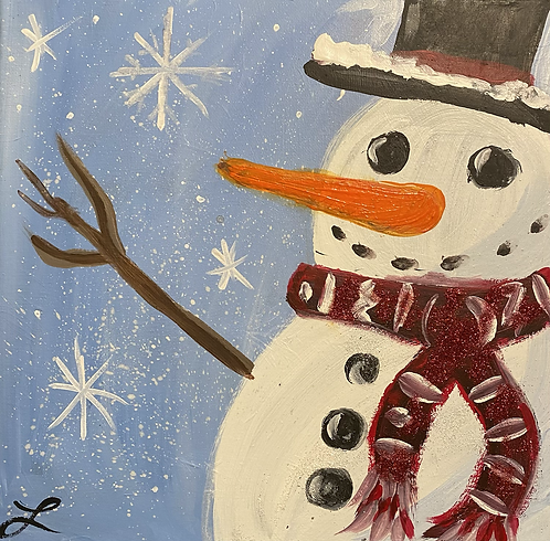 Kids Snowman Paint Night at the Studio! 12/18 @6pm