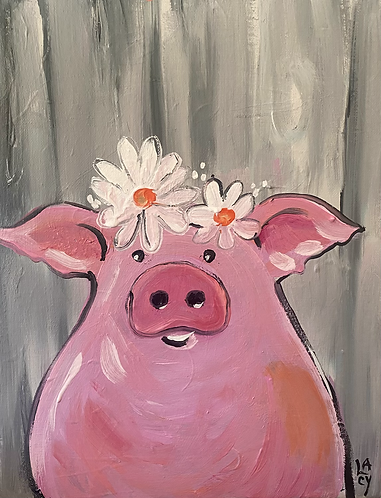 Pink Piggy 🐷 Paint Night at the Studio 1/29 @6pm