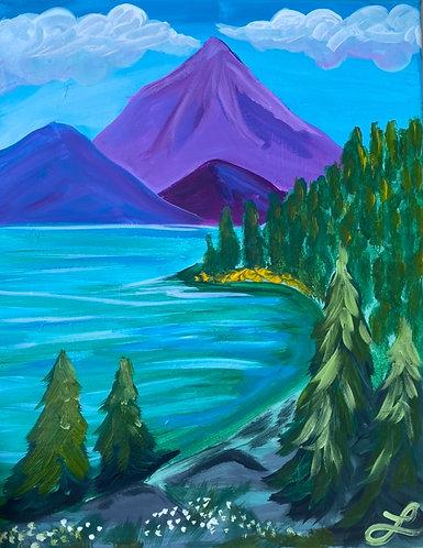 Summer Mountains Paint Night