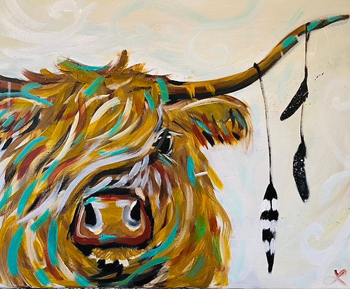 Holy Cow Paint Night at the Lacy Wilson Art Studio