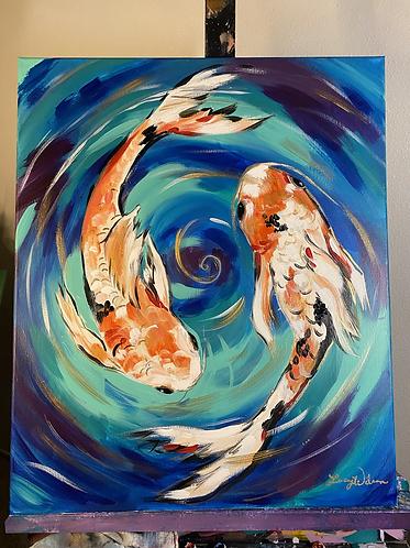 Koi Fish Paint Night at the studio 1/30 @6pm