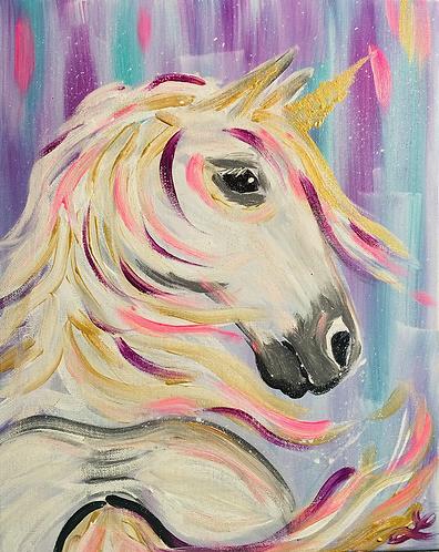 Unicorn Paint Night at The Lacy Wilson Art Studio 1/23 @6pm