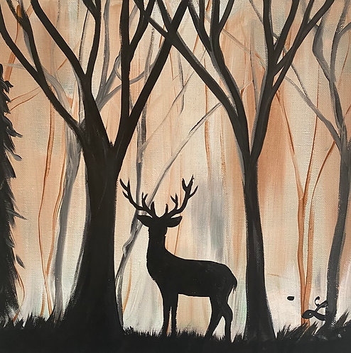 Deer at Dusk Paint Night at the Studio 10/28 @6pm