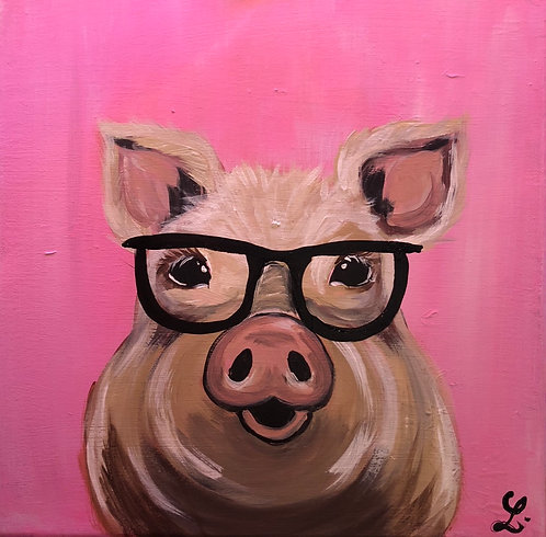 Pink Pig Paint Night at the Lacy Wilson Art Studio 4/30 @6pm