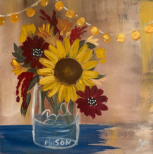 Fall Mason Jar Paint Night at the Studio 11/14