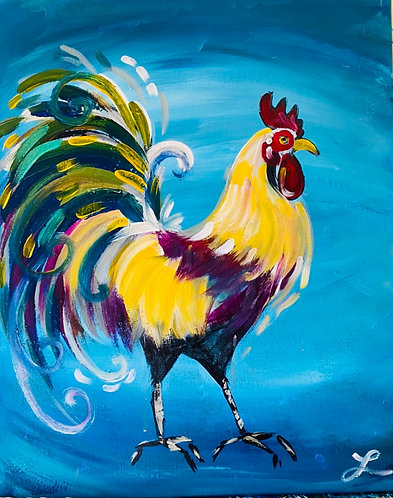 Rooster Paint Night 3/21 at 6pm