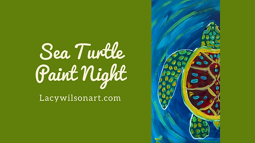 Sea Turtle Paint Night at the Lacy Wilson Art Studio 3/20 @6pm