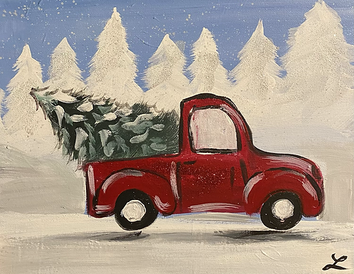 Little Red Truck Paint Night 12/20 @6pm
