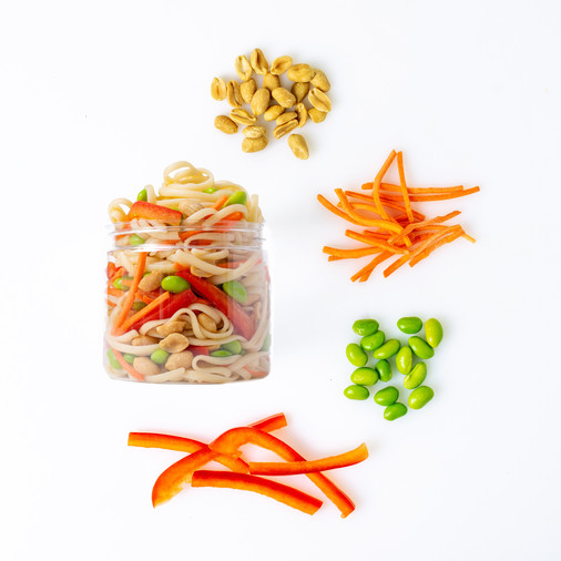 Roots to Rise Peanut Noodle Salad