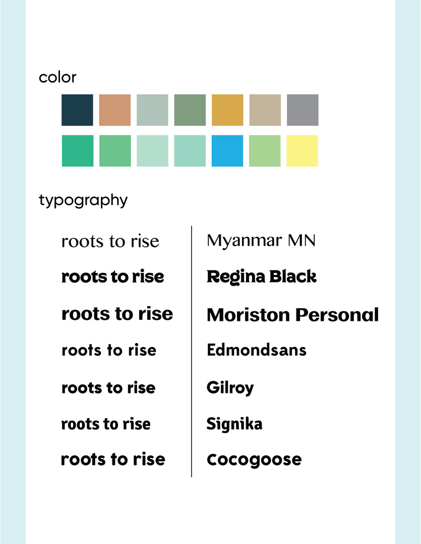 Roost to Rise Sketching Color & Typography