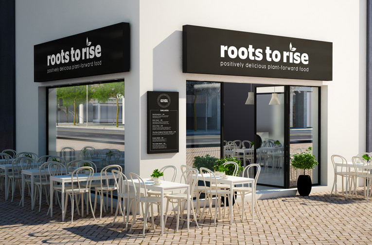 Roots to Rise Cafe Mockup