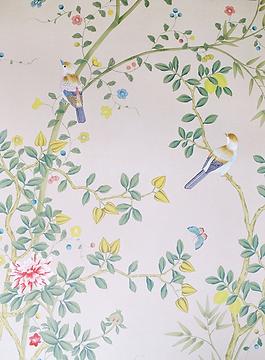 Exquisite, handmade wallpaper of Stapleford Park destination wedding venue in the Midlands, UK
