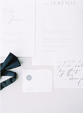 PARIS ELOPEMENT CALLIGRAPHY & STATIONERY