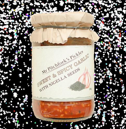 Sweet & Spicy Garlic with Nigella Seeds