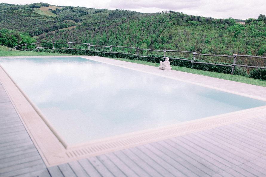 Fine Art Wedding Photography Conti di San Bonifacio, Pool overlooking Tuscan Hills of the Maremma