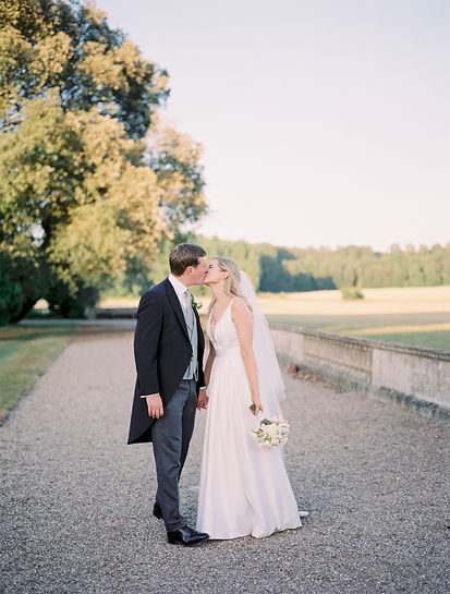 Bride & Groom on wedding day Prestwold Hall