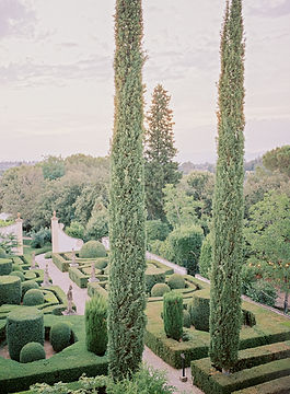 Exquisite renaissance gardens at Villa le Piazzole in Florence, Italy