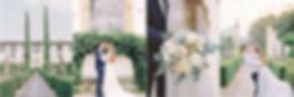 Renaissance ornate garden with statues and bridal suite balcony in the luxury Florentine villa, Villa le Piazzole.