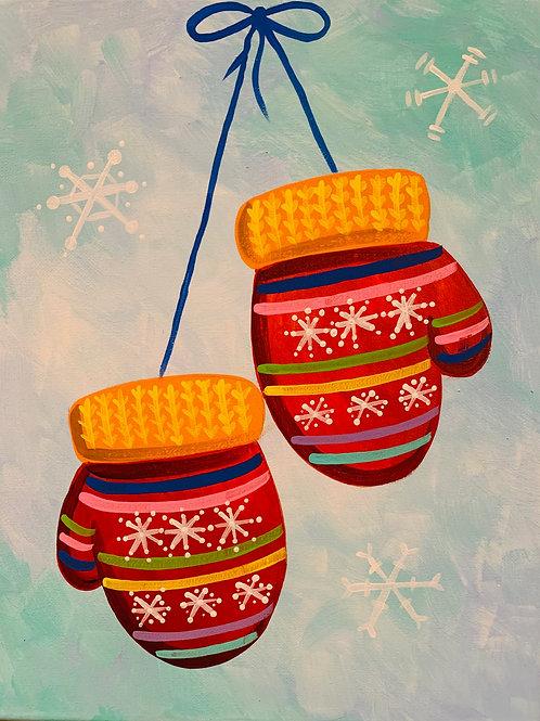 Virtual Winter Mittens Painting