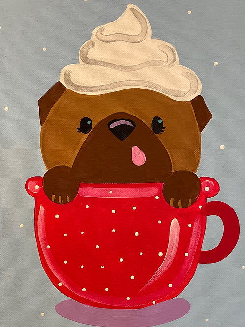 Saturday Kids' Class, Pug in a Mug, October 16th, 10:00am-noon