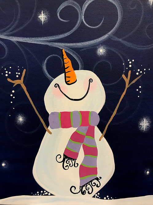 Virtual Snowman Painting