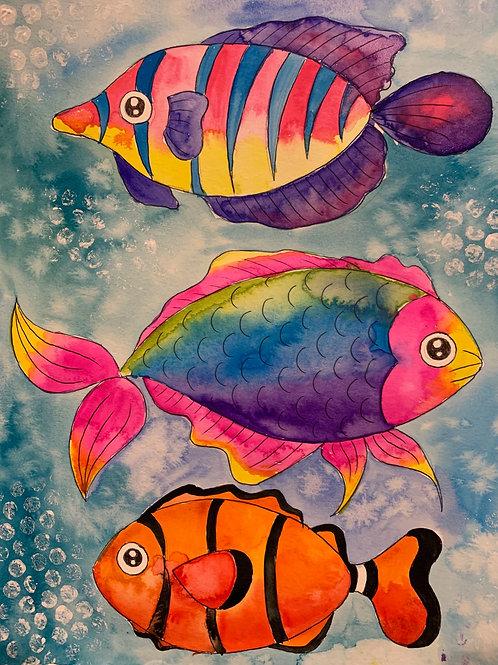 Online Fish Watercolor Painting Tutorial