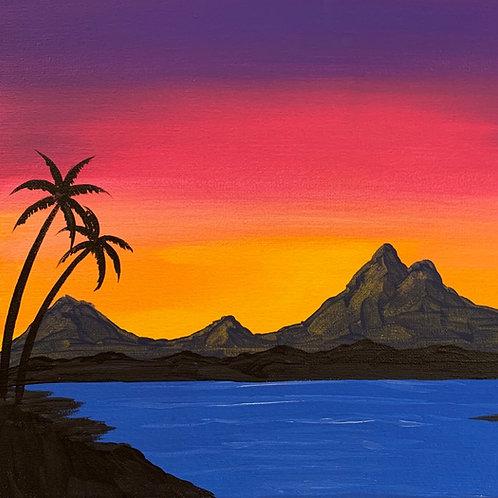Online Beach Sunset Painting Tutorial