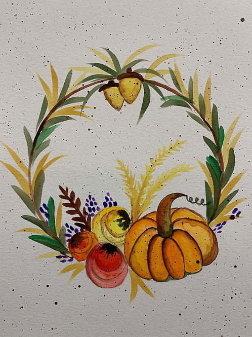 Online Fall Wreath Painting Tutorial