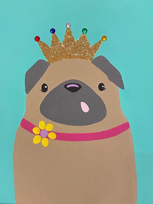 Princess Pug Painting Tutorial With Kit