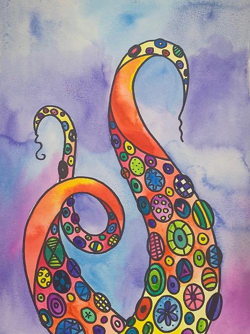 Online Octopus Watercolor Painting Tutorial