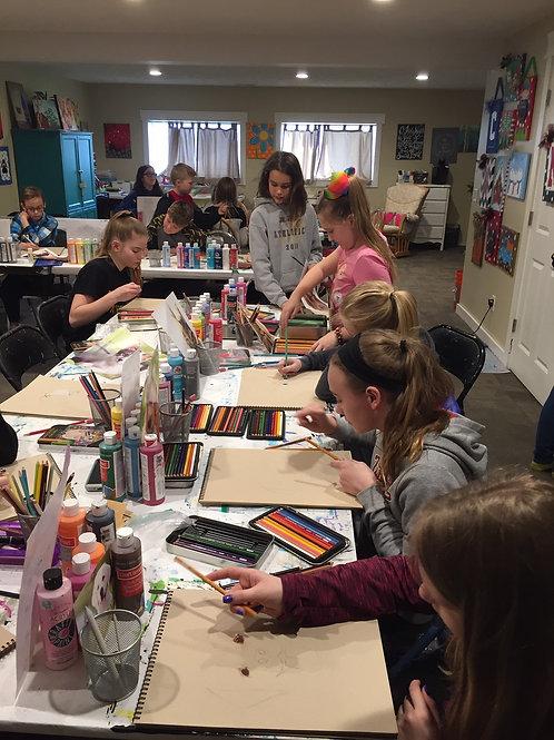 Tuesday Homeschool Drawing Session, Oct. 6-Nov. 3rd, 1:00-2:30pm