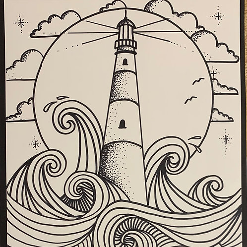 Online Lighthouse Drawing Tutorial