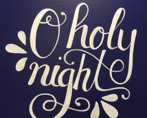 Lighted Canvas O Holy Night.JPG