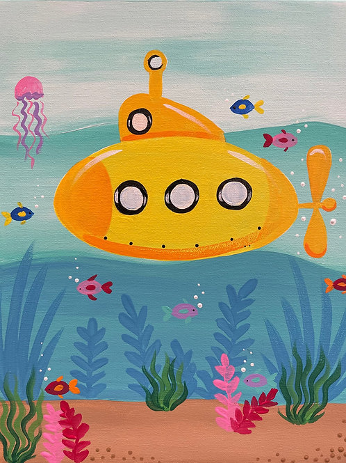 Online Submarine Painting Tutorial With Kit