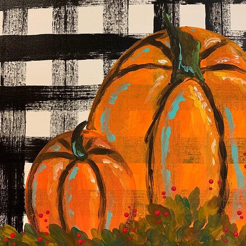 Online Fall Pumpkins Painting Tutorial