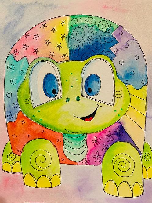Online Sea Turtle Watercolor Tutorial