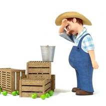 Farmer Lifting a Bucket