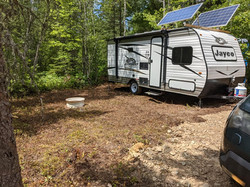 Off Grid Rental Trailer Campsite