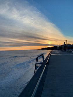 Haleema Raja - A Sunset at the Pier