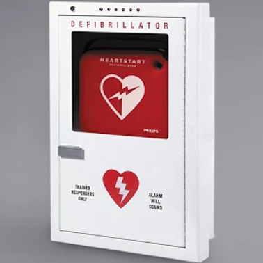 Philips Defibrillator Cabinet, Semi-recessed