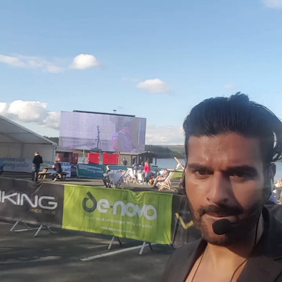 Presenting main stage at the Commonwealth Games
