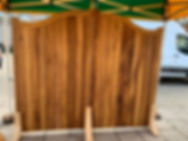 Iroko Hardwood Swan neck gates