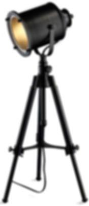 black tripod spot light